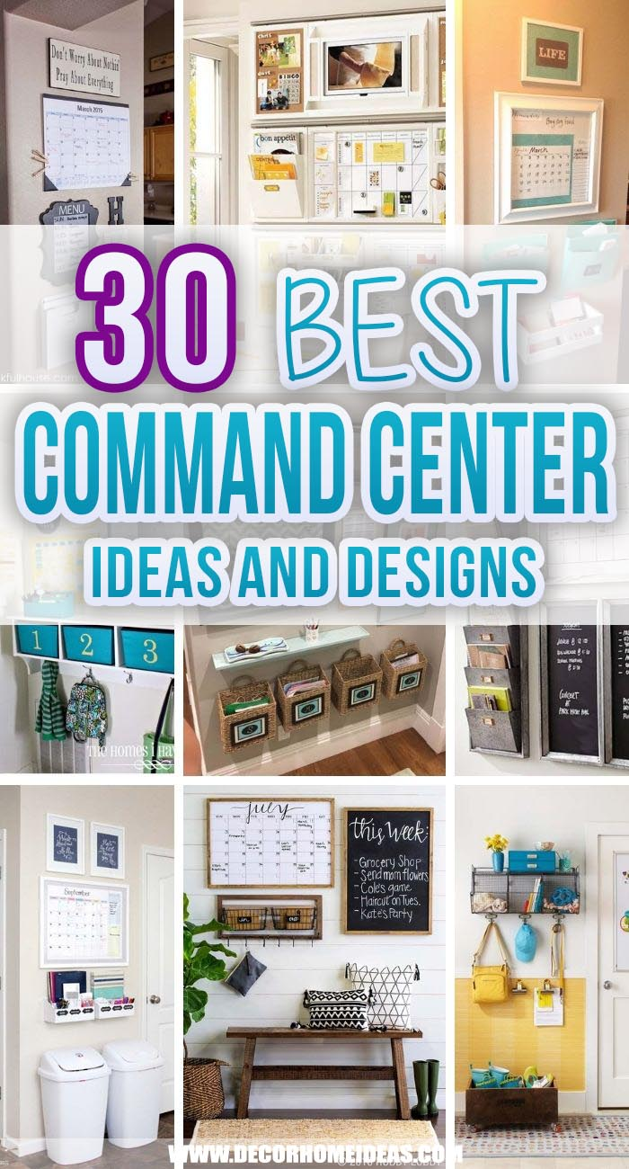 Best Command Center Ideas. Looking for some command center inspiration to get yourself organized? Then look no further! These genius command center ideas are everything you'll ever need to be insanely organized. #decorhomeideas