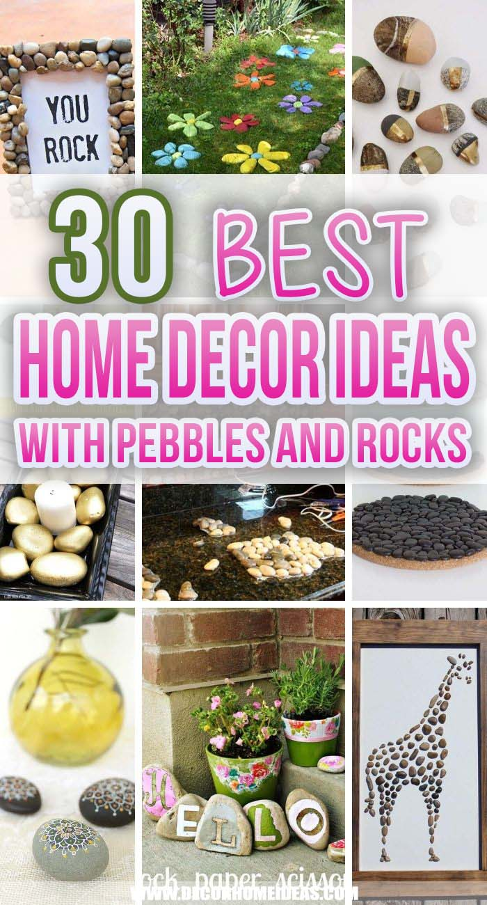 Best Home Decor Ideas Pebbles Rocks. There are several ways to fill your interior with items of decor that bring some nature inside of your living space. You can use pebbles or river rocks. #decorhomeideas