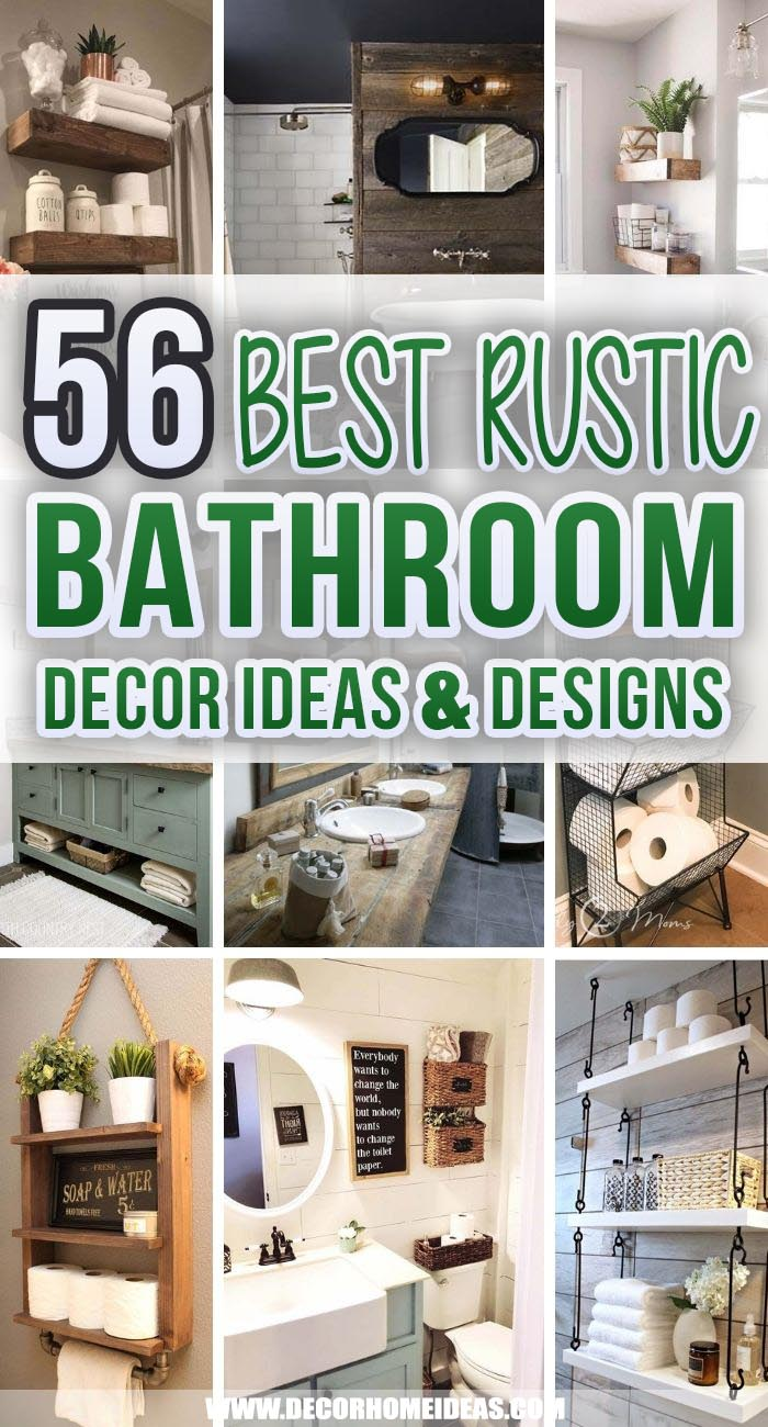 Best Rustic Bathroom Decor Ideas. Add some personal touch and a layer of texture with these awesome rustic bathroom decor ideas, decorations and designs. Choose the best one from our premium selection. #decorhomeideas