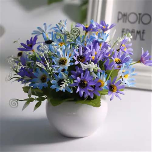 Blue Daisy-To-Grow-In-Container #blueflowers #gardencontainers #decorhomeideas