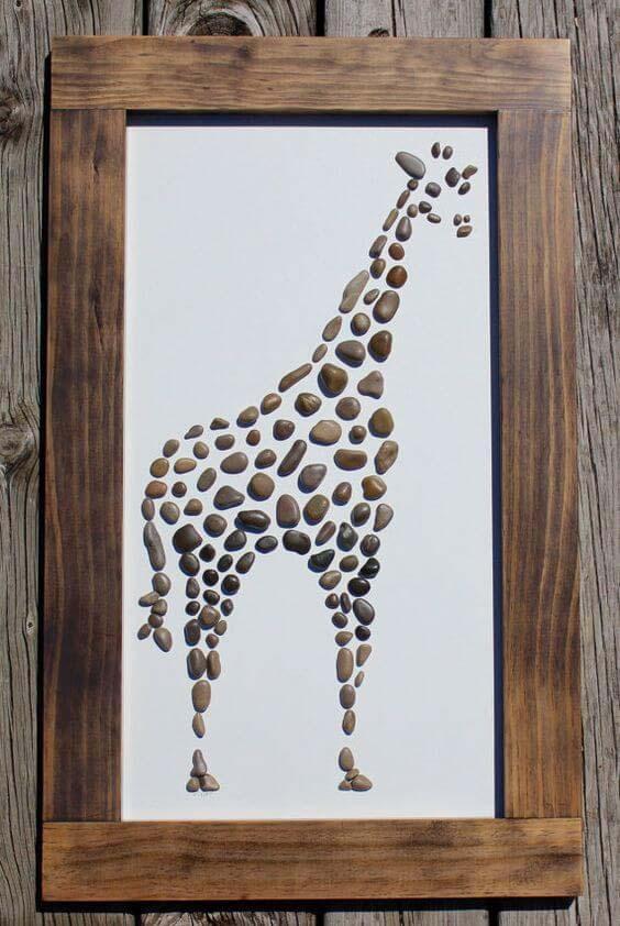 Create Gorgeous Children's Room Art #homedecor #pebbles #rocks #decorhomeideas