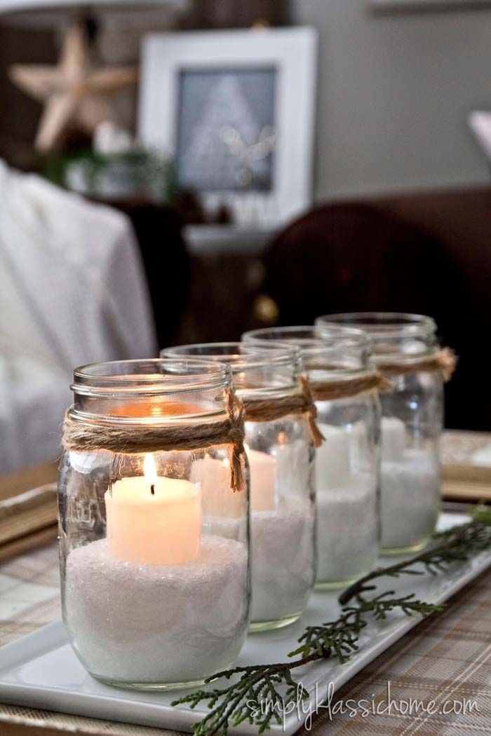 Decorating with Candle Ideas for Mason Jars #candledecorations #candles #homedecor #decorhomeideas