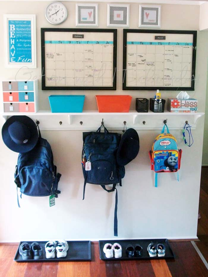 Design That's Perfect for Back-to-School #commandcenter #organization #diy #decorhomeideas