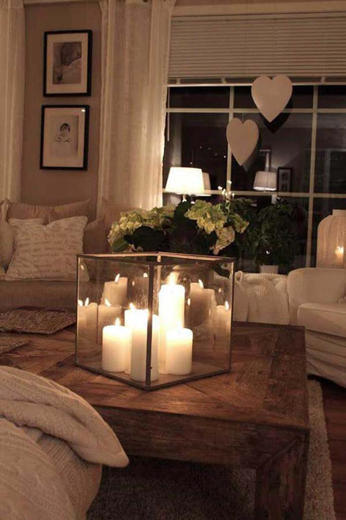 Elevate Basic White Pillars with a Candle Cube #candledecorations #candles #homedecor #decorhomeideas