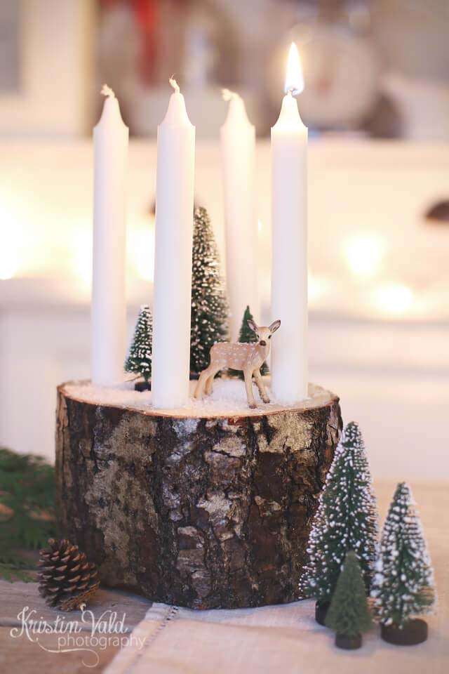 Forest Scene Candle Diorama #candledecorations #candles #homedecor #decorhomeideas