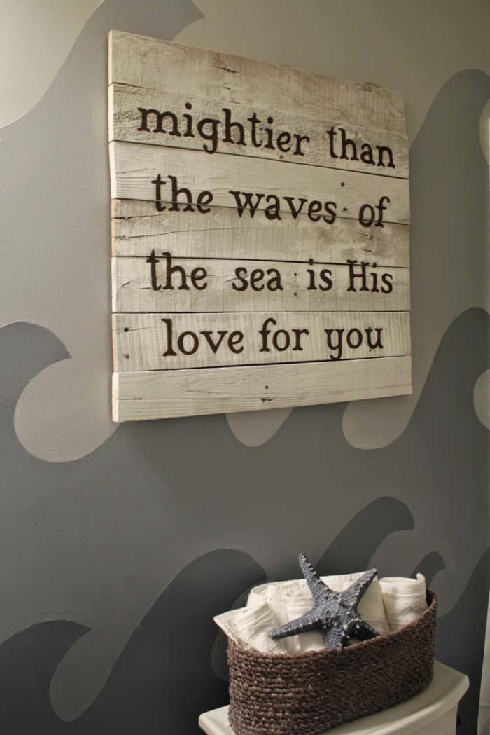 God of Wonders Wave Wall #rusticbathroom #rusticdecor #decorhomeideas