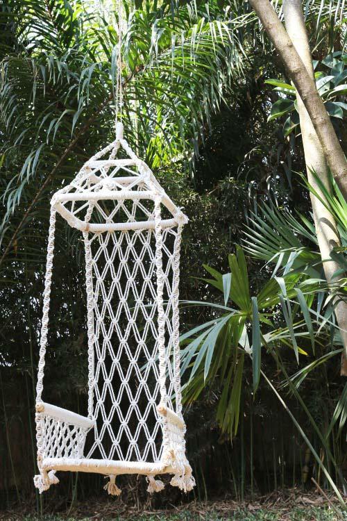 Macrame Garden Swing #gardenswing #swingplans #decorhomeideas