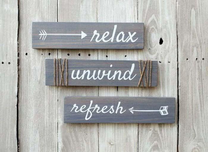 Relax Unwind Refresh Cool Signs #farmhouse #walldecor #decorhomeideas