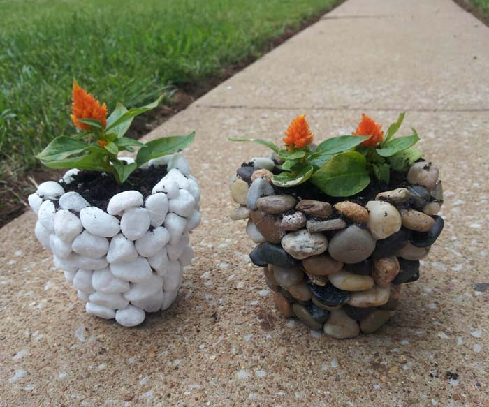 These Lovely Eye-catching Planters are Natural Beauties #homedecor #pebbles #rocks #decorhomeideas