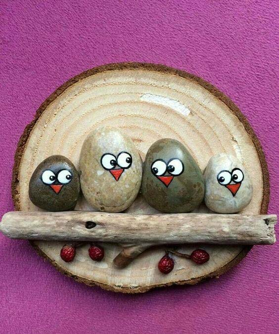 These Sweet Owls are Perfect for Your Child's Room #homedecor #pebbles #rocks #decorhomeideas
