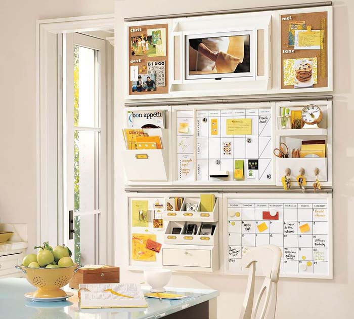 Wall Mount with a Place for Everything #commandcenter #organization #diy #decorhomeideas