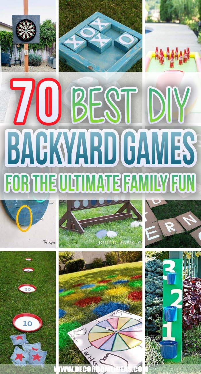 Best DIY Backyard Games. These DIY backyard games are super easy and cheap to make so your kids can enjoy unlimited summer fun without breaking the bank. Play with them all day long. #decorhomeideas