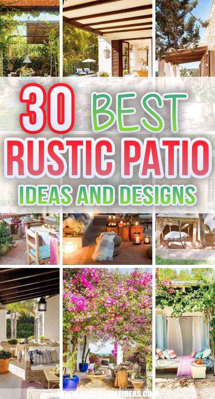 Best Rustic Patio Ideas. If you want maximal coziness for your patio, choose the rustic style. These rustic patio ideas will turn any backyard into warming and inviting outdoor space. #decorhomeideas