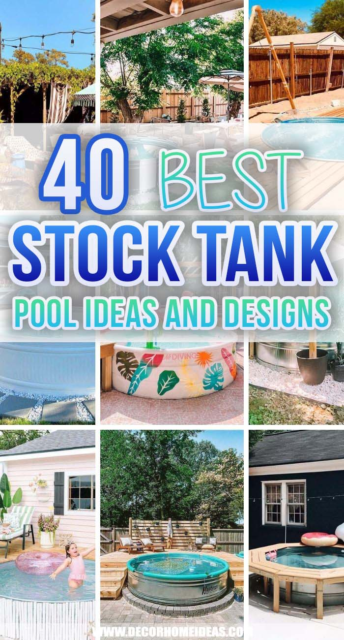 Best Stock Tank Pool Ideas. Stock tank pool ideas are the current trend when it comes to cooling off on the hot summer days in your own backyard. They are easy to set up and maintenance cost is low. #decorhomeideas