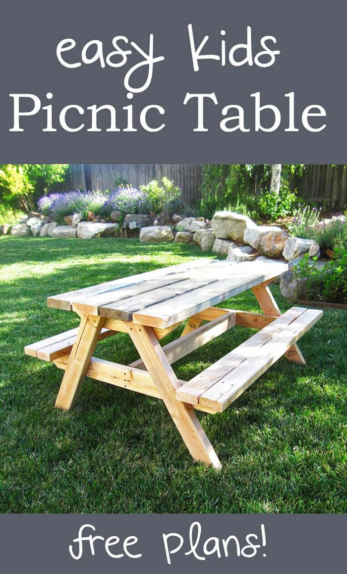 A Picnic Table for Lunch and Snacks #backyardkidsgames #diybackyardgames #decorhomeideas