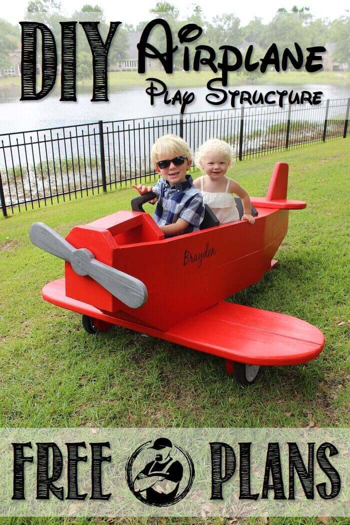 A Red Airplane for Your Little Pilot #backyardkidsgames #diybackyardgames #decorhomeideas