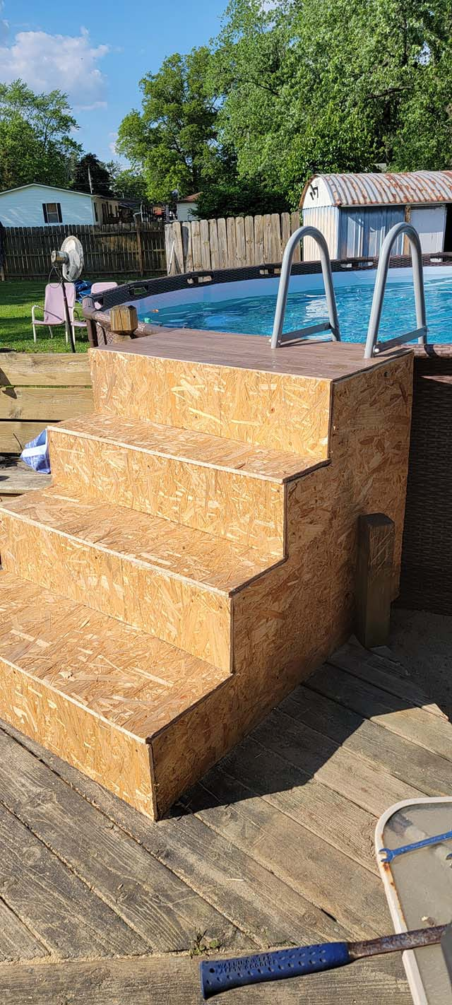 Above Ground Pool Steps 3