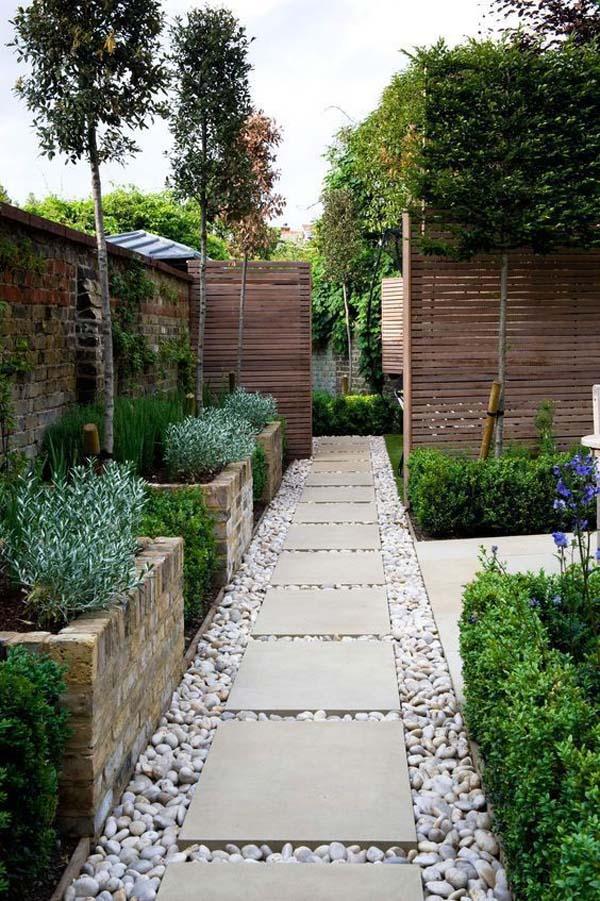 Architectural Modern Side Yard #sideyard #sidegarden #decorhomeideas