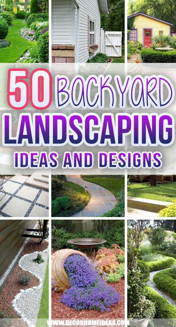 Best Backyard Landscaping Ideas. Backyard landscapes need to be functional as spaces that are useful as well as beautiful. These backyard landscaping ideas will inspire you to create your own garden oasis. #decorhomeideas