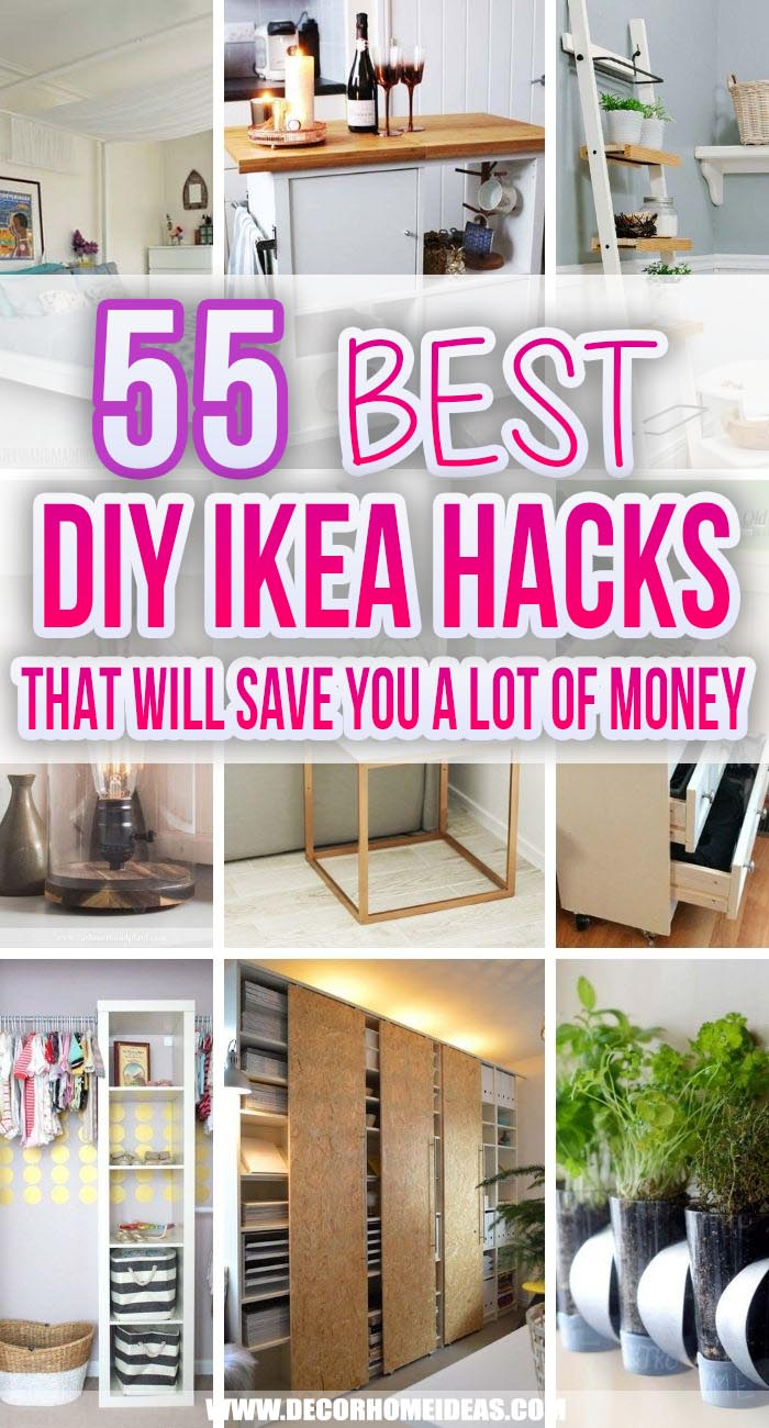 Best DIY Ikea Furniture Hacks. These DIY IKEA hacks will show you how to create fantastic projects without spending a lot of money. From furniture hacks to storage ideas these are the best IKEA hacks on the web. #decorhomeideas