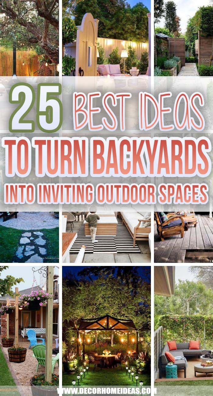 Best Ideas To Turn Backyards Into Inviting Outdoor Spaces. If you have a backyard you can definitely upgrade it into a relaxing and entertaining outdoor space with these fabulous ideas that are simple and easy to recreate. #decorhomeideas