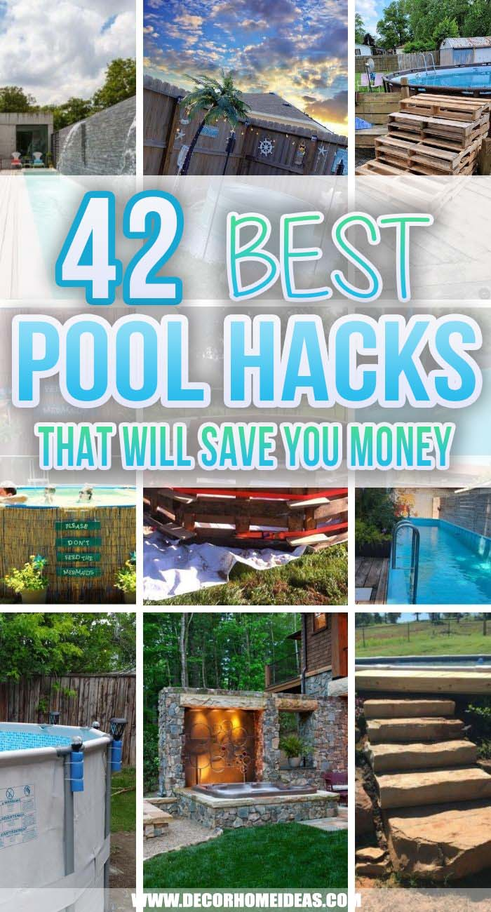 Best Pool Hacks You Can Actually Apply. These pool hacks are all you need to save a ton of money! Cheap organization tips, pool bag hacks, fun pool noodle ideas, and more! Make the most of your summer. #decorhomoideas