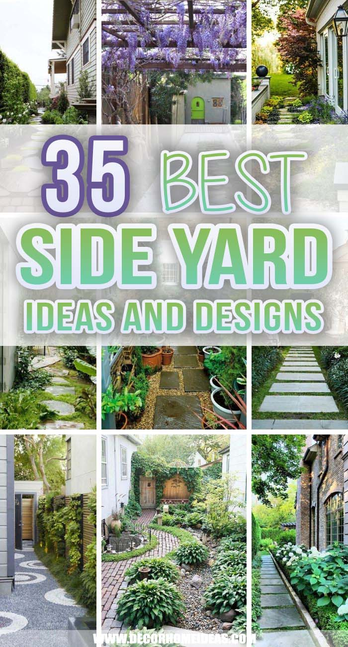 Best Side Yard Ideas. The side yard is often an afterthought in the garden-design process — since it's small and hidden from view, it's easy to overlook, but sometimes you could turn it into a lush garden with a lot of detail to plants and landscaping. #decorhomeideas