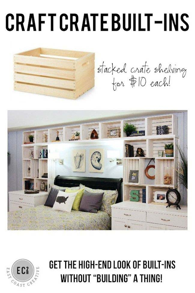 Built-Ins Re-envisioned #diywoodcrateprojects #diywoodcrateideas #decorhomeideas