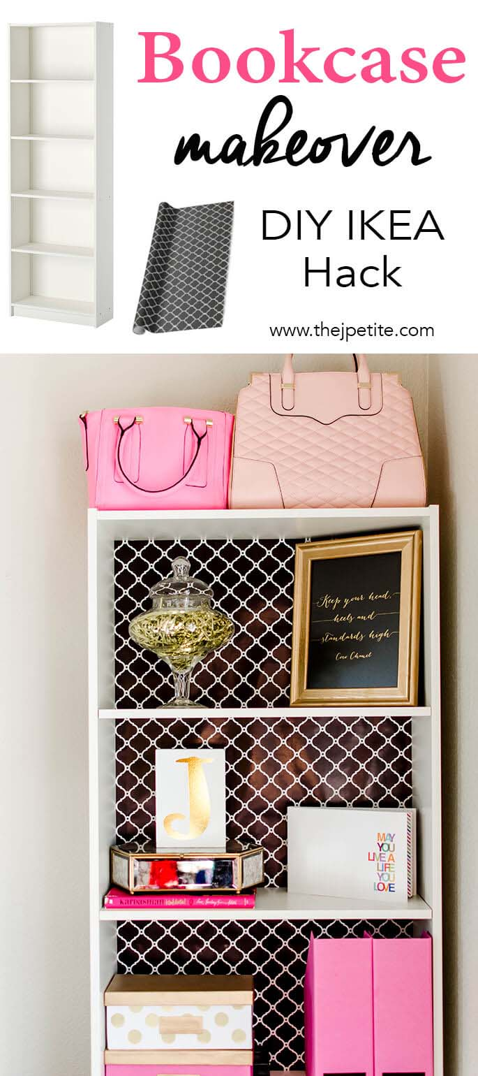 Chic Bookcase for a Cozy Corner #IKEAhacks #IKEAfurniture #decorhomeideas
