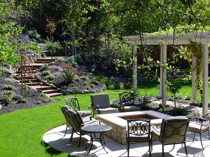 Come Down to the Fire #backyardlandscaping #decorhomeideas