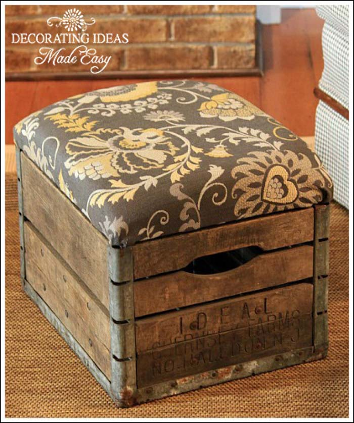 Creating a Stool with Storage #diywoodcrateprojects #diywoodcrateideas #decorhomeideas