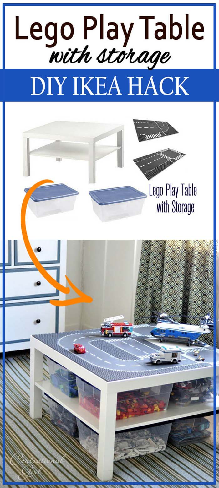 Efficient and Pristine Play Table #IKEAhacks #IKEAfurniture #decorhomeideas