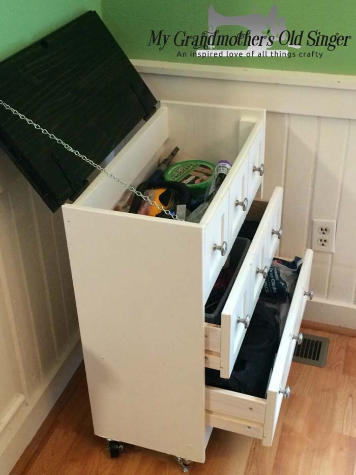 Kids Dresser with Removable Top #IKEAhacks #IKEAfurniture #decorhomeideas