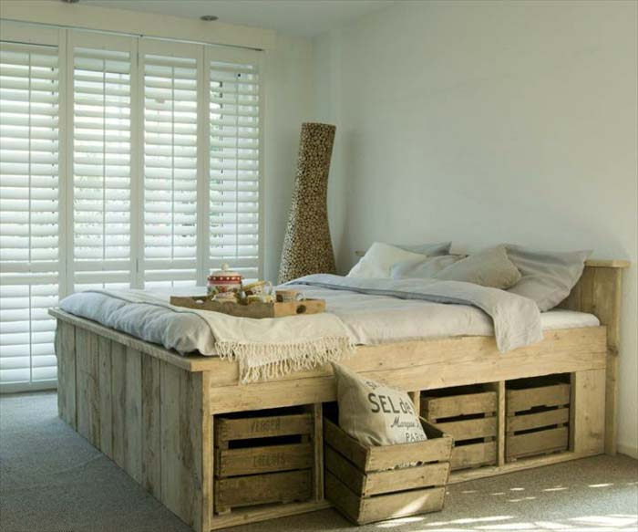 Re-imagine Bedroom Storage with Crates #diywoodcrateprojects #diywoodcrateideas #decorhomeideas
