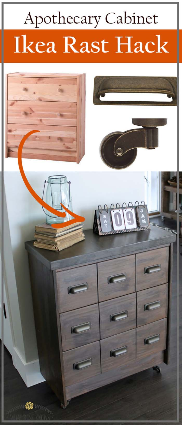 Small Wall Desk with 9 Easy Drawers #IKEAhacks #IKEAfurniture #decorhomeideas