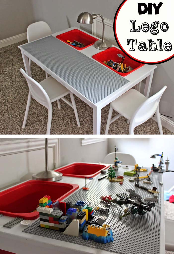 Spiffy and Simple DIY Lego Table #IKEAhacks #IKEAfurniture #decorhomeideas
