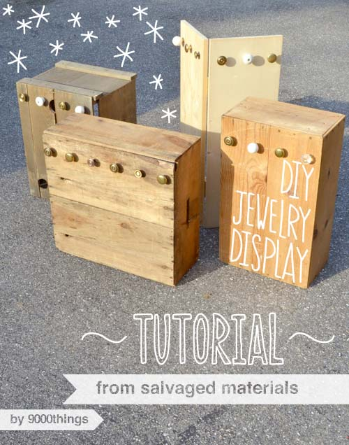 Unique Upcycles: Wood Crate Jewelry Displays #diywoodcrateprojects #diywoodcrateideas #decorhomeideas