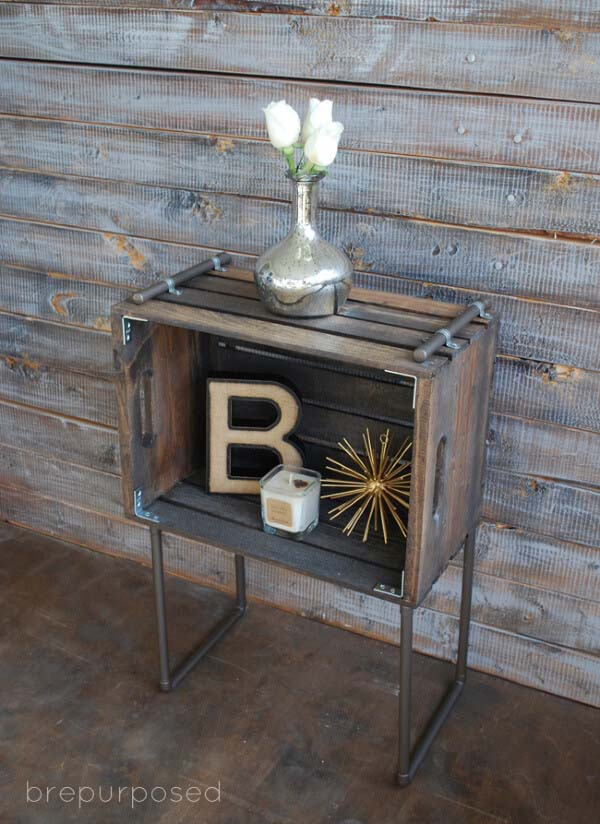 Wine Storage Crate for Your Wet Bar #diywoodcrateprojects #diywoodcrateideas #decorhomeideas