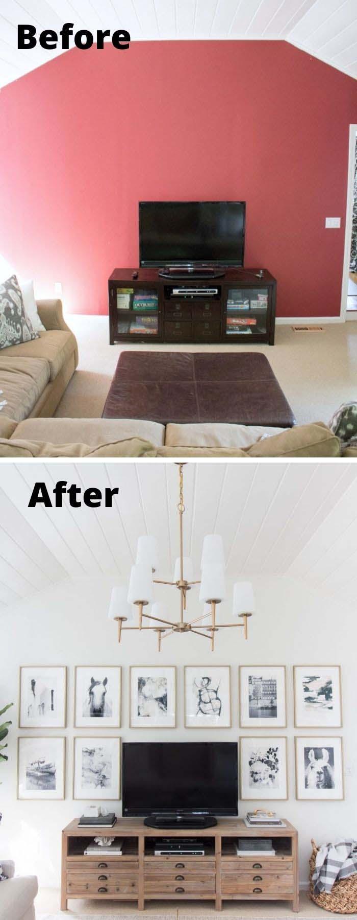 Before and After Living Room Makeover #livingroommakeovers #decorhomeideas