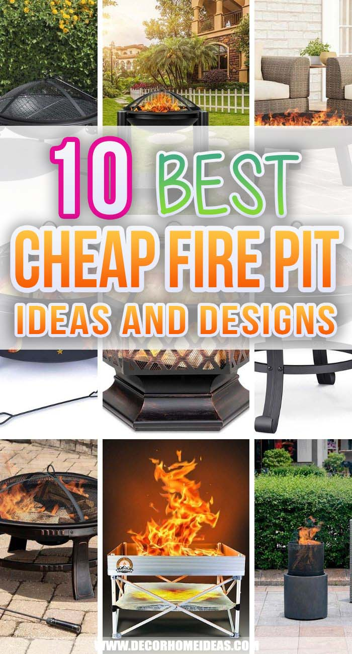 Best Cheap Fire Pit Ideas. Outdoor fire pits are great for at-home gatherings and roasting. We researched the best cheap fire pits so you can find the right one for your backyard. #decorhomeideas