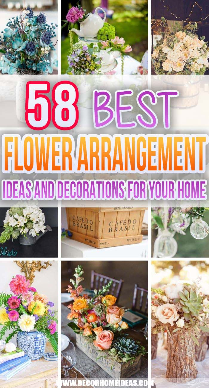 Best Flower Arrangements Ideas. Are you in love with flowers and beautiful home decor? These are the best flower arrangements ideas to create a cozy and welcoming home. #decorhomeideas