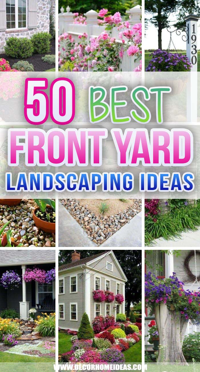 Best Front Yard Landscaping Ideas. Beautiful front yard landscaping ideas will help you boost your curb appeal and add a personal touch to your outdoor space without hesitation and hard work. #decorhomeideas