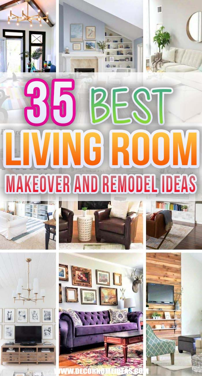 Best Living Room Makeovers. Get inspired to improve your own living room with these fabulous before-and-after living room makeovers. There are easy and budget-friendly to recreate. #decorhomeideas