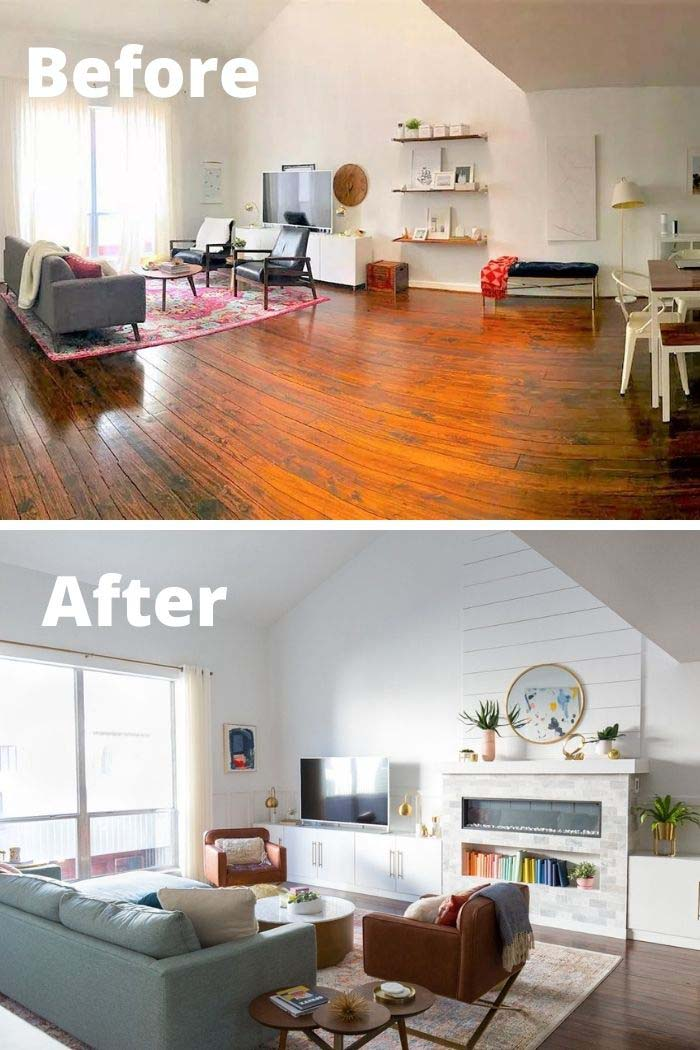 From Big To Crisp and Organized #livingroommakeovers #decorhomeideas