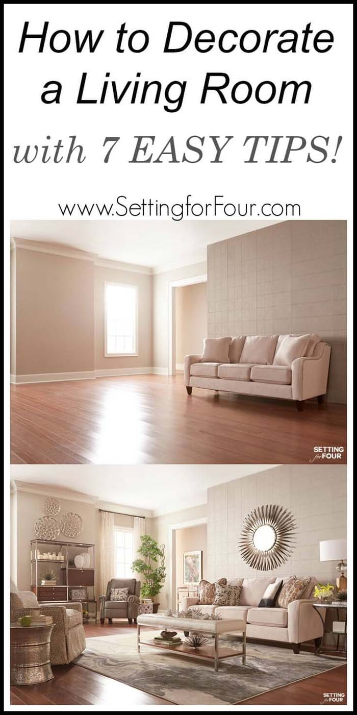 From Empty to Elegant in 7 Steps #livingroommakeovers #decorhomeideas