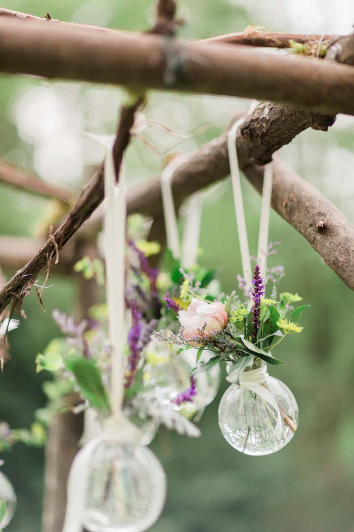 Herbal Baubles Dress Up Bare Branches #flowerarrangementsideas #flowerarrangement #decorhomeideas