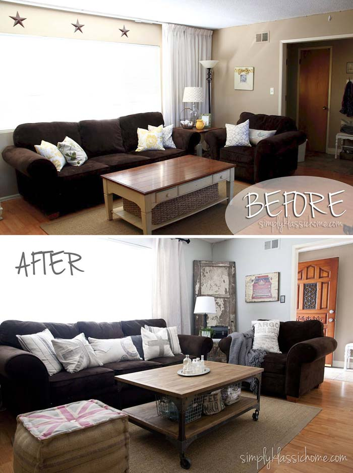 Little Changes for a Big Impact #livingroommakeovers #decorhomeideas