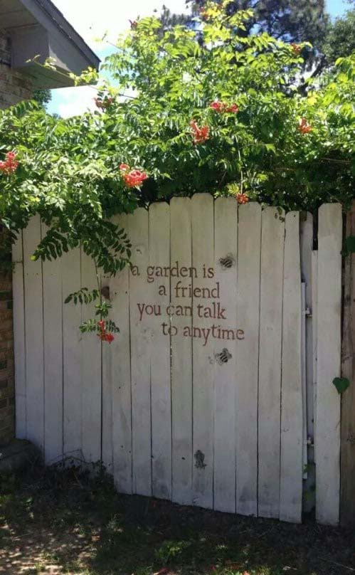 Meaningful Fence Quotes #gardenfencedecoration #decorhomeideas