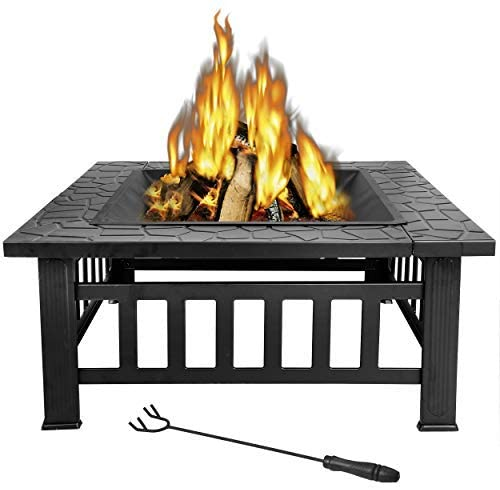 Outdoor Square Metal Firepit
