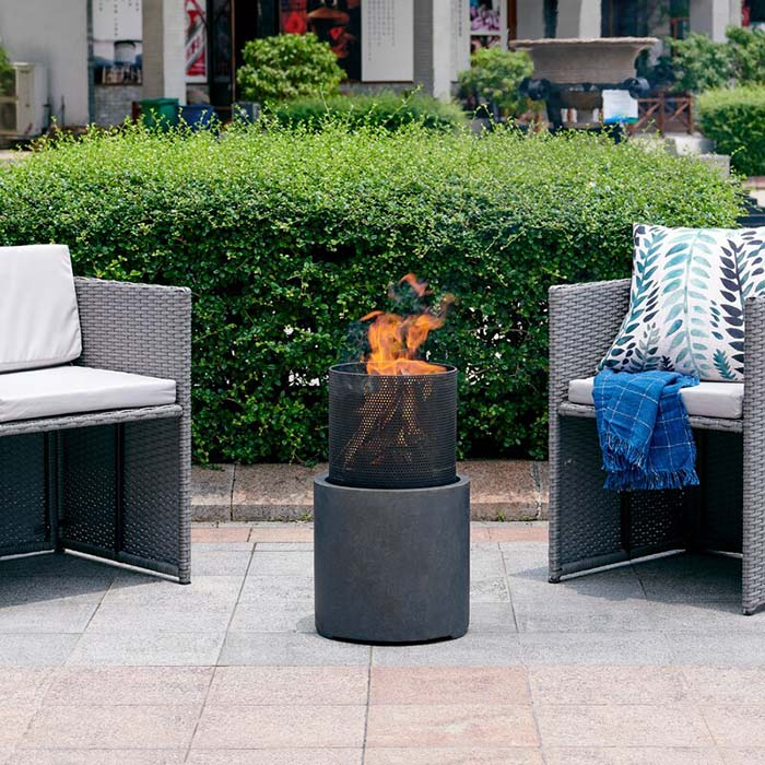 Polyresin Wood Burning Outdoor Fire Pit